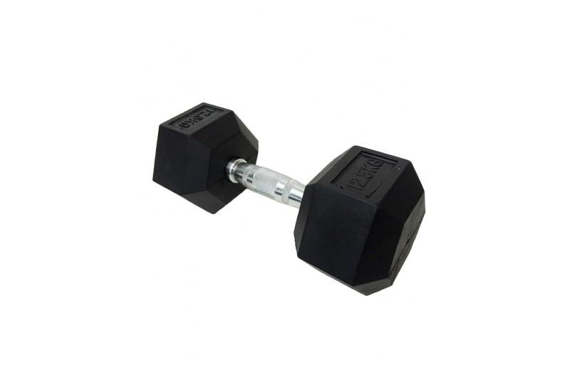 DD 6442-12.5   Гантель шестигранна обрезиненна 12,5 кг