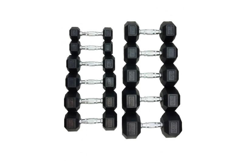 DD 6442-2   Гантель шестигранна обрезиненна 2 кг