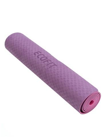 Килимок для фітнесу Ecofit MD9012 двошаровий TPE 1830 * 610 * 6мм пурпурно-фіолетовий