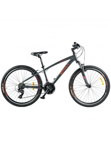 """Велосипед Spirit Spark 6.0 26 """", рама M, темно-сірий / матовий, 2021"""