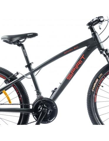 """Велосипед Spirit Spark 6.0 26 """", рама XS, темно-сірий / матовий, 2021"""