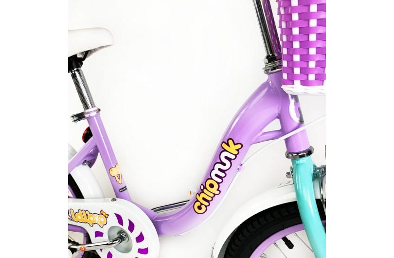 "Велосипед дитячий RoyalBaby Chipmunk MM Girls 16 "", OFFICIAL UA, фіолетовий"